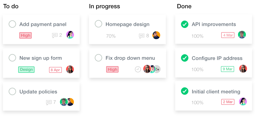 ProofHub Kanban View Screenshot